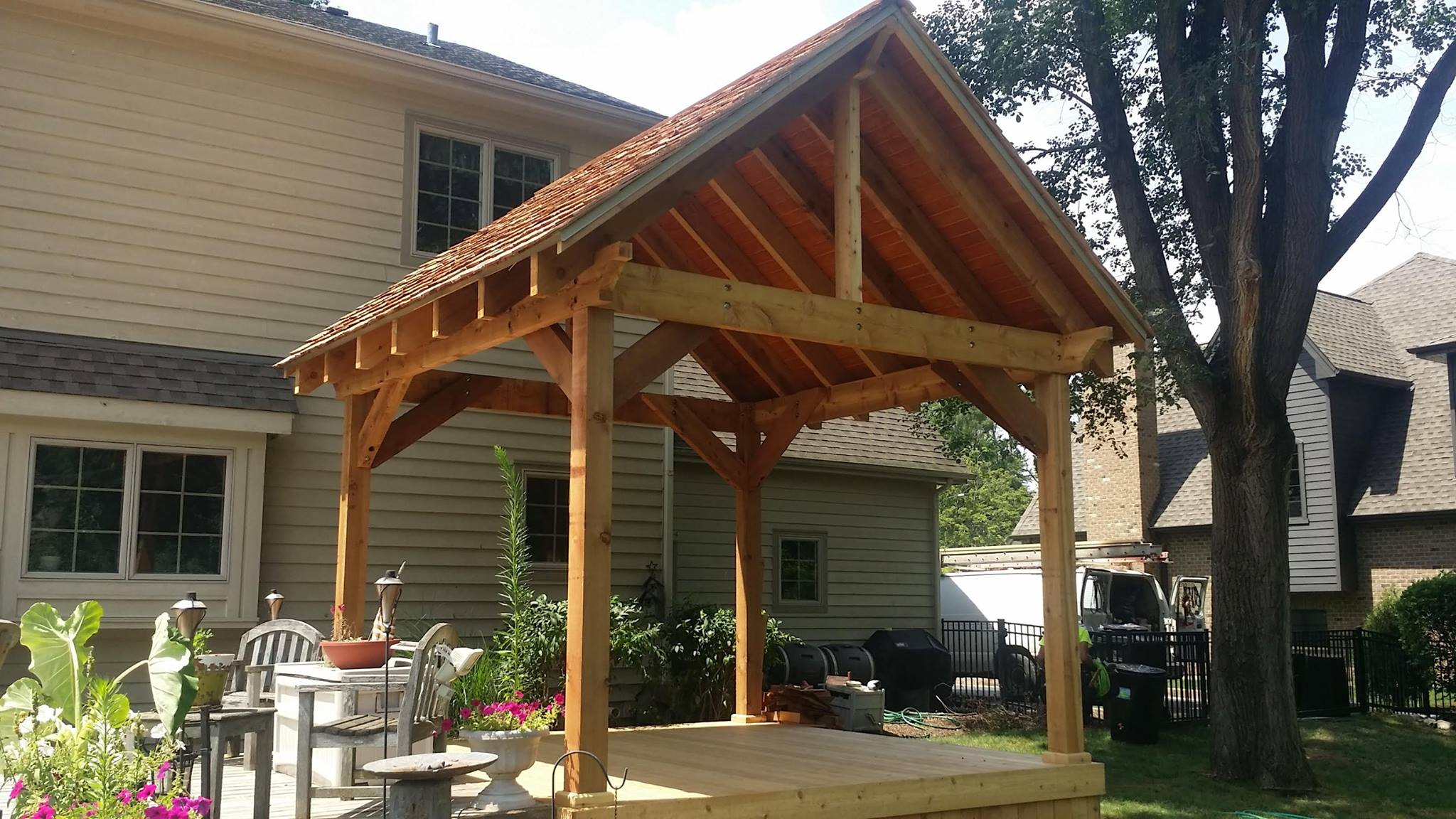 how to build a gazebo on my deck